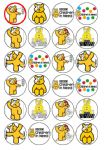 24 x Children in Need Rice Wafer Paper Bun Cup Cake Top Toppers